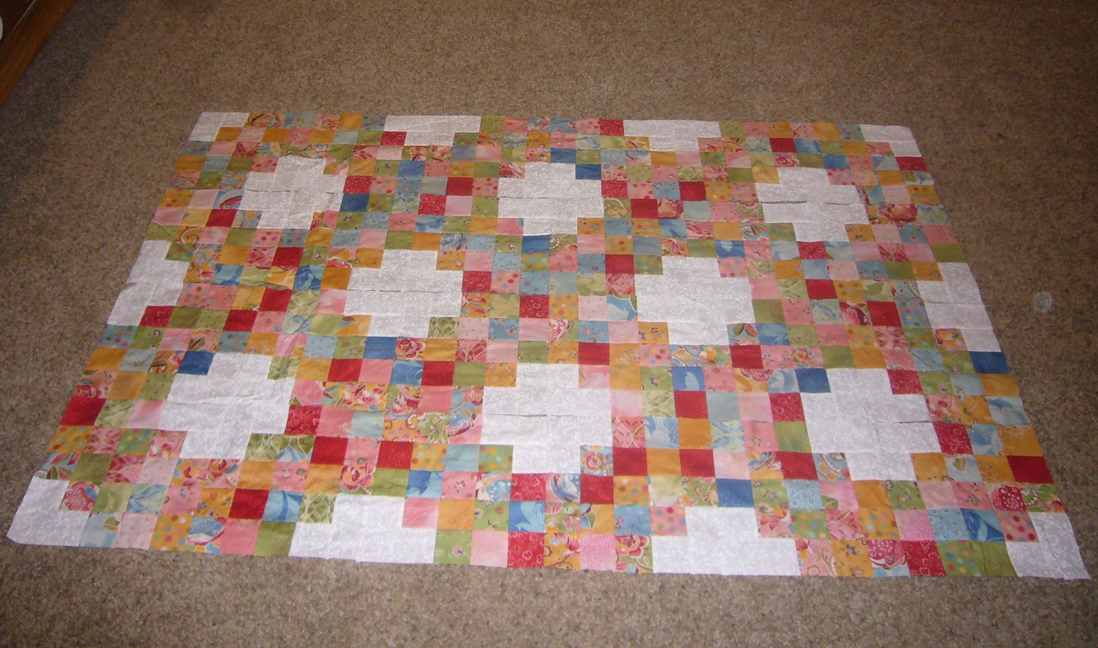 It Is A Variation Of An Irish Chain Pattern Made With Jelly Rolls I Used From The Fabric Collection Boutique By Chez Moi