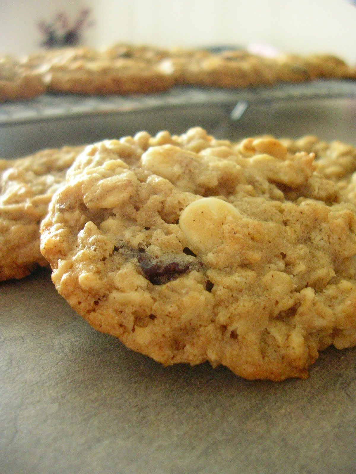 The Busty Baker: White Chocolate Cherry Oatmeal Cookies