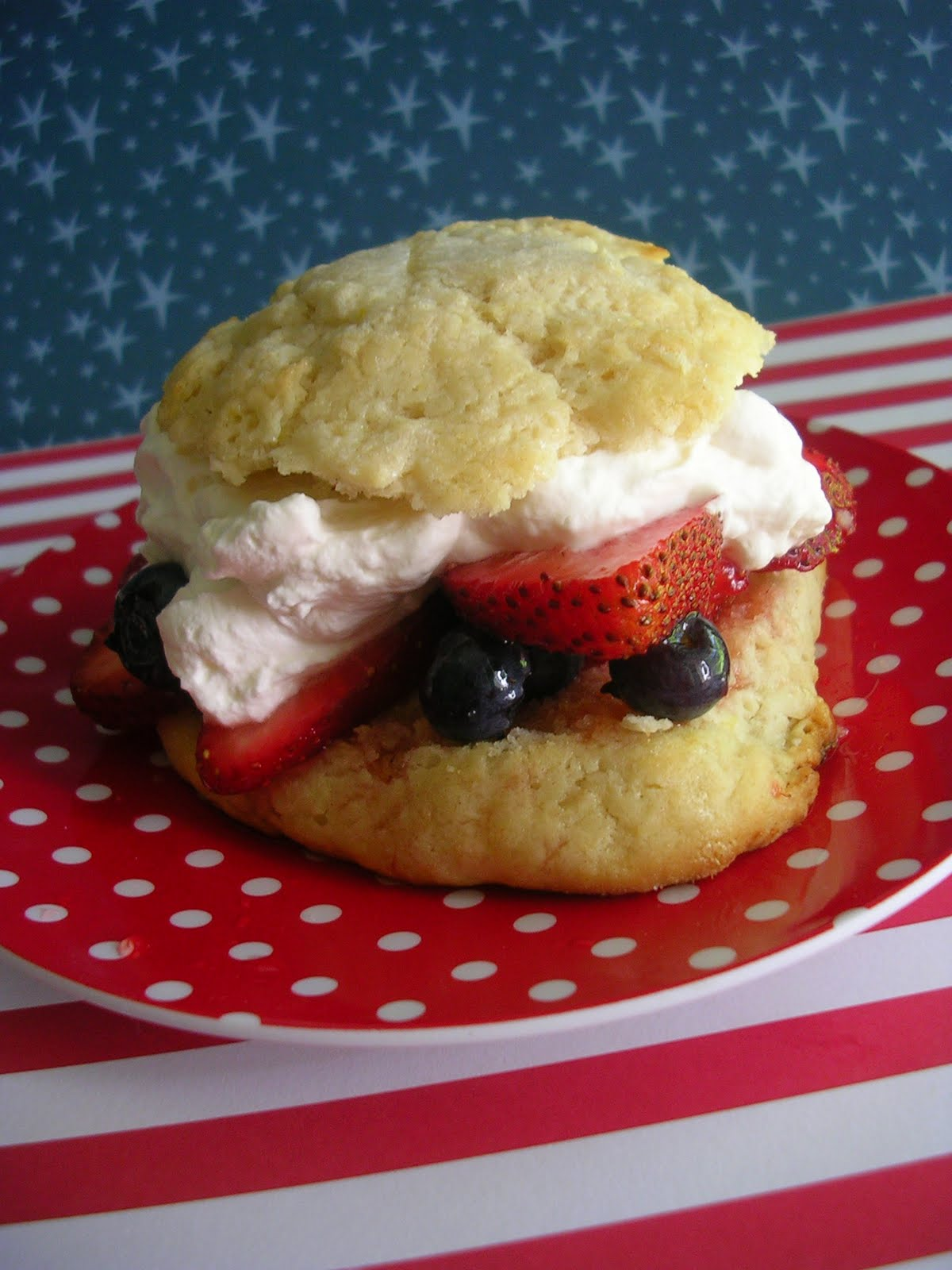 The Busty Baker: Red White and Blue Shortcakes