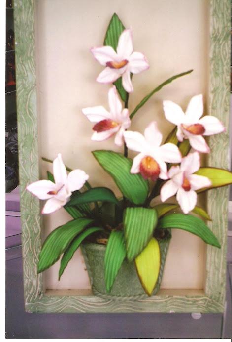 Quadro de Orquídea Média.