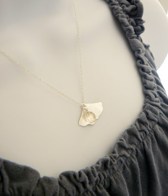 handmade foliage necklace
