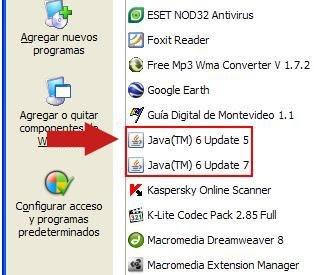 Java desinstalar