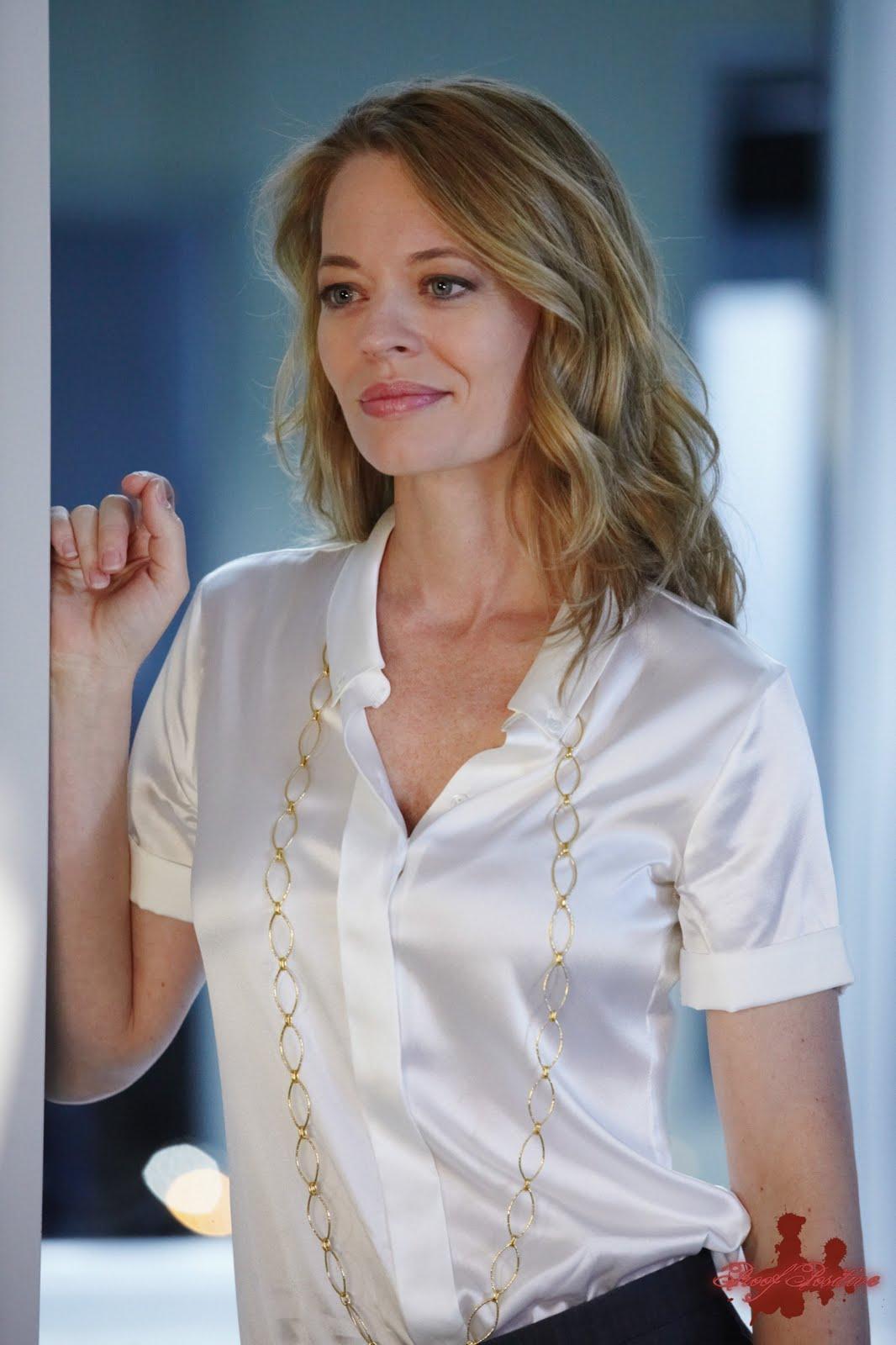Ladies in Satin Blouses: kris jenner - white blouse