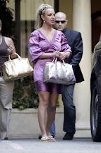 Ladies In Satin Blouses Britney Spears - Purple Dress