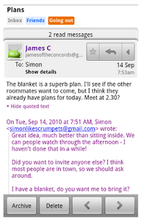 """... of Gmail. Tap """"Show quoted text"""" to reveal the previous message"""