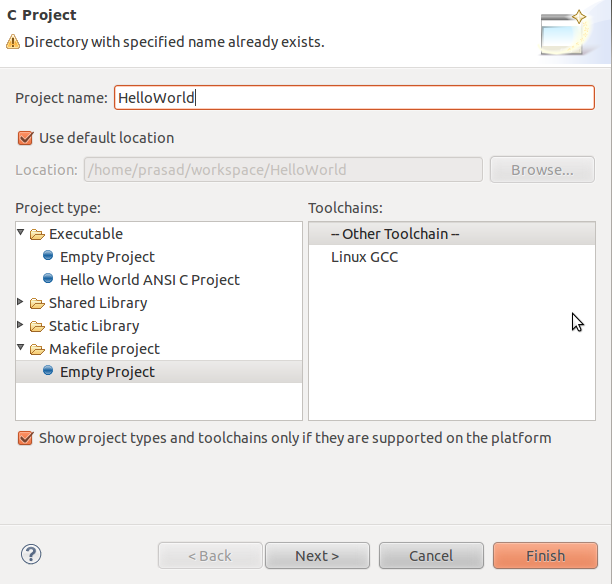 Techology for All: Compile C/C++ code in eclipse using makefiles