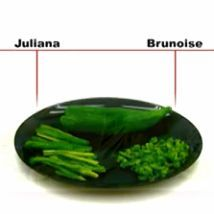 Distintos Cortes de Verduras