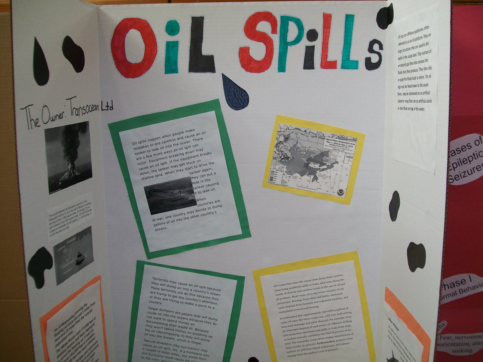 oil spill science fair projects