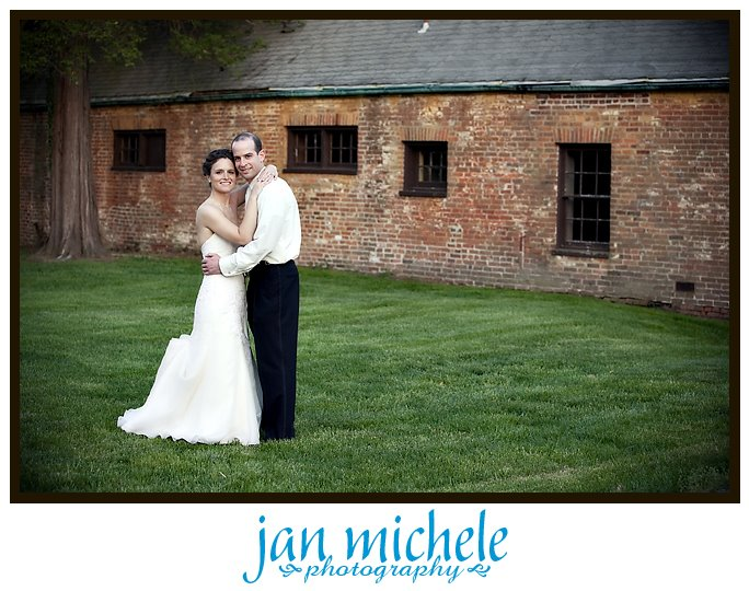 bride and groom portrait at Mt. Airy Mansion, Upper Marlboro MD