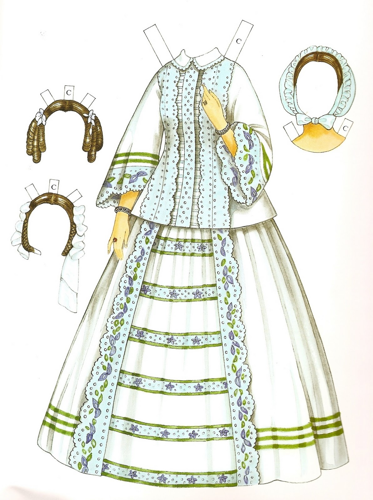 Victorian fashion paper dolls 69