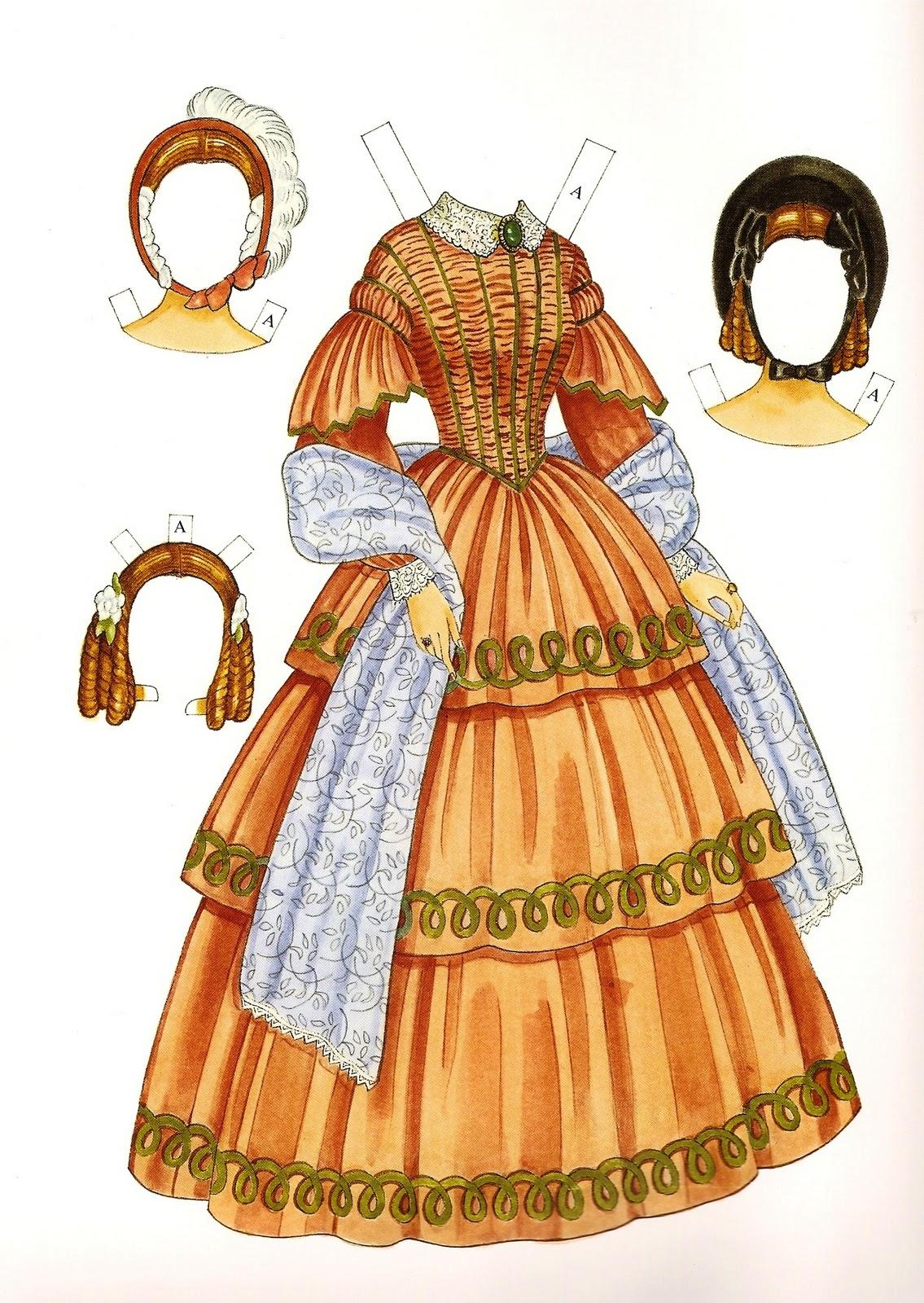 Victorian fashion paper dolls
