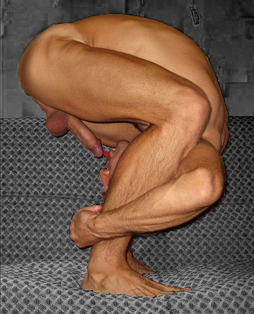 Nude yoga men
