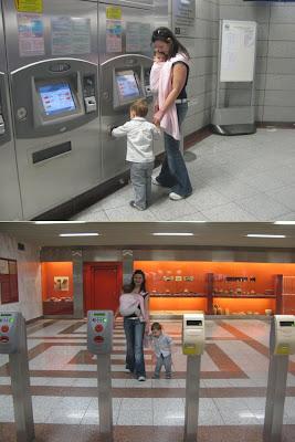 Με ένα μάρσιπο αγκαλιάς για το μωρό, το μετρό γίνεται πολύ ευκολότερο!