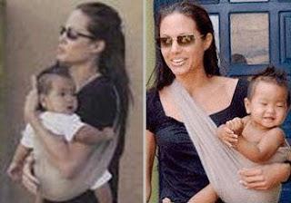 Η Angelina Jolie, σούπερ μαμά, φοράει τα μωρά της