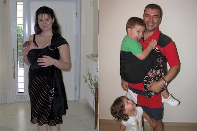 Το ίδιο sling, με το ίδιο μωρό (!) 4,5 χρόνια μετά!