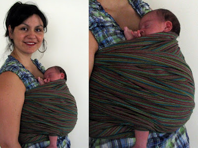Μωρό 10 ημερών σε μάρσιπο wrap