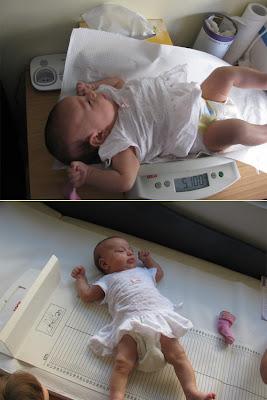 Το μωράκι μου δύο μηνών στην πρώτη επίσκεψη στον παιδίατρο!