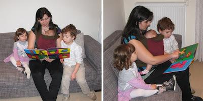 Διαβάζοντας ένα καλό βιβλίο με δύο παιδιά κι ένα μωρό!