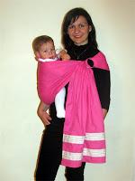Φορέστε το μωρό σας με χειροποίητο μάρσιπο sling και στο πλάι!