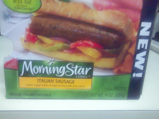 package of Morningstar brand Italian sausage