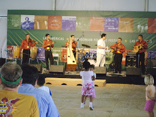 children dancing at folklife festival