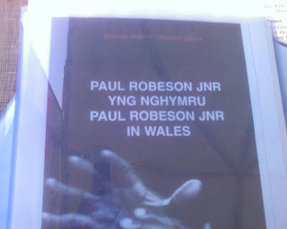 poster advertising Paul Robeson appearance in Wales
