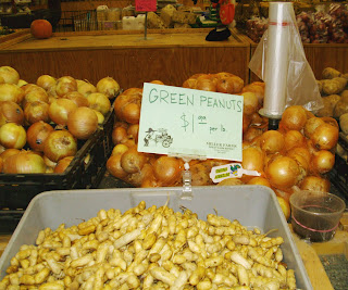 green peanuts at Miller Farm store
