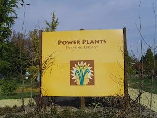 sign for Power Plants exhibit
