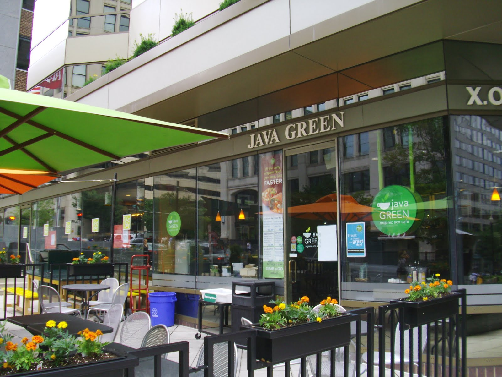 Java Green street patio
