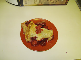 slice of Sara Lee Signature Selections Deep Dish Gourmet cherry pie
