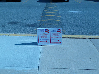 sign at polling place