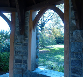 from inside the gazebo