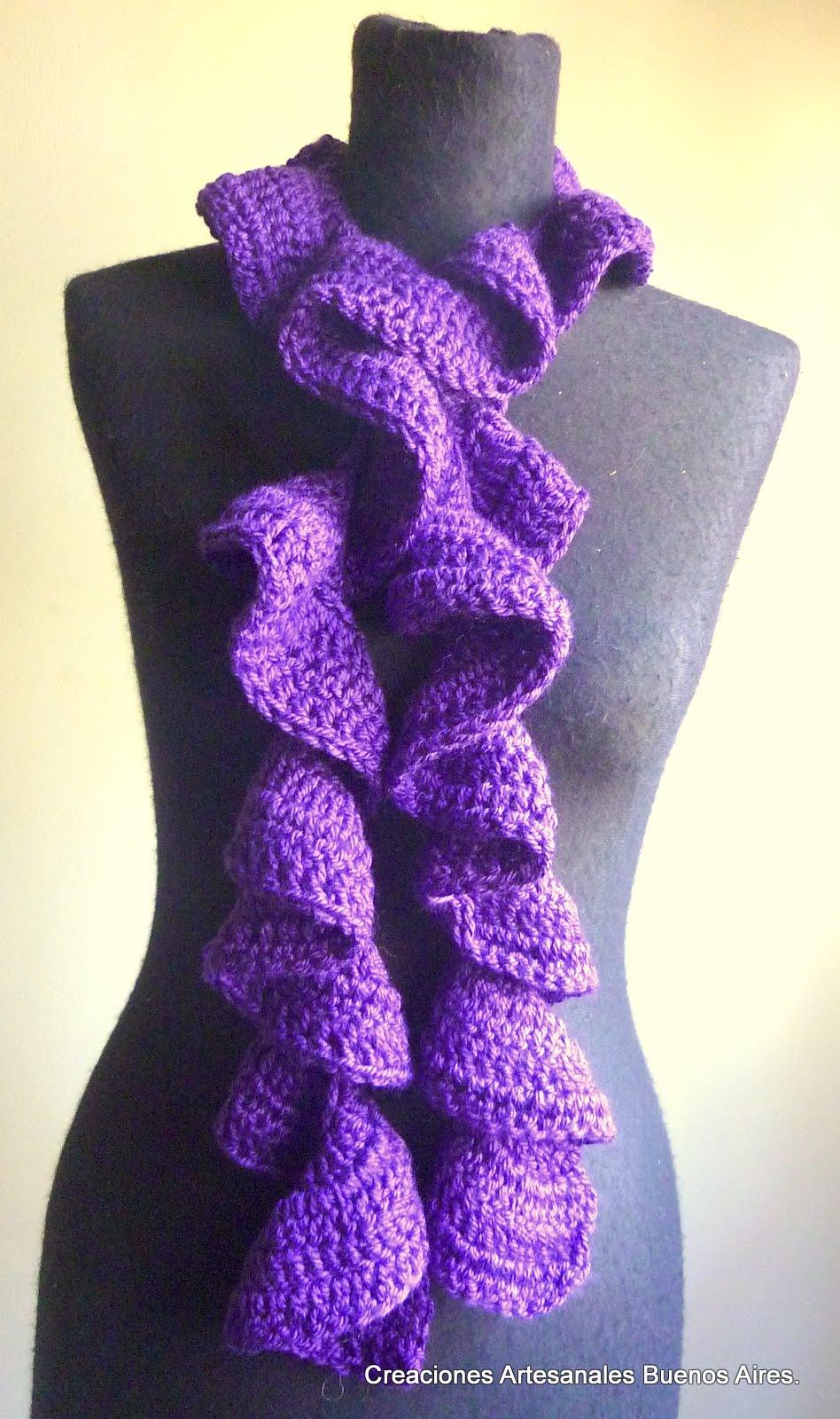Creaciones Artesanales Argentina: Bufandas al crochet!!!!