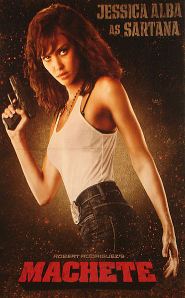 Jessica Alba Heats Up Machete Poster