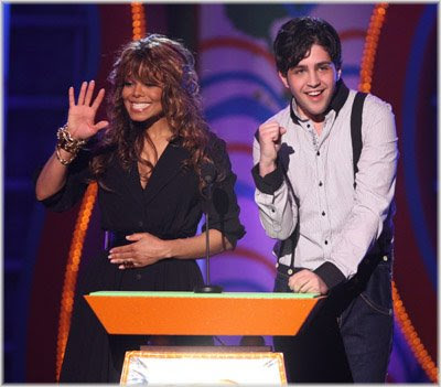 janet+wave Nickelodeon 2008 Kids Choice Awards