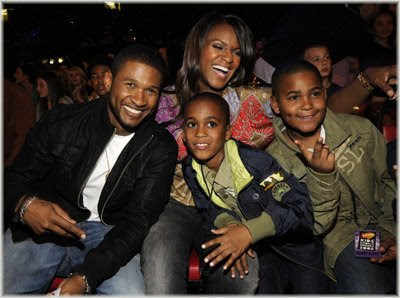 usher+n+tam+n+kids Nickelodeon 2008 Kids Choice Awards