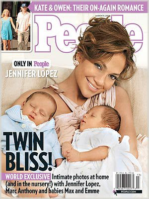 Jennifer Lopez & The Twins Cover PEOPLE