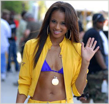 cici1 Ciara On Set Of Cant Leave Em Alone Video