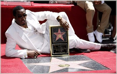 diddy444 Diddy Honored With Hollywood Star