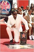 Diddy Honored With Hollywood Star