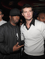 robin+thicke+2 Stars Come Out For Thicke Album Launch