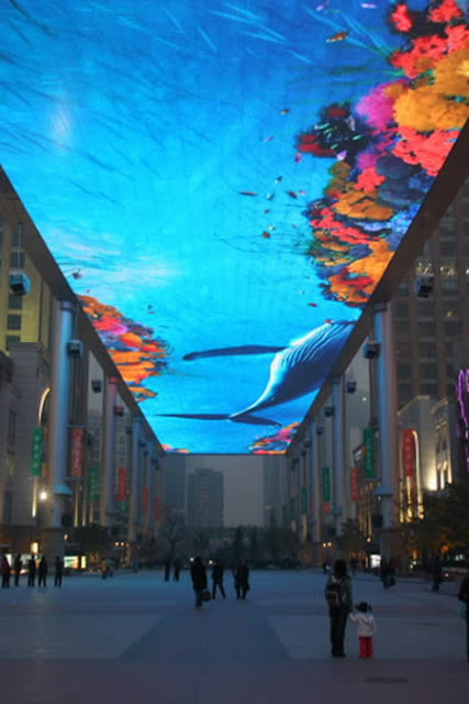 Virtual Aquarium di Mall Beijing, China