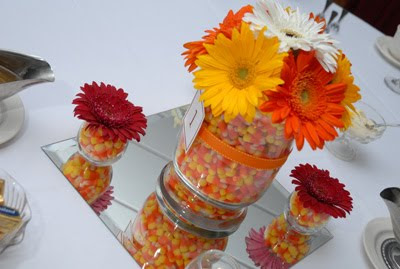 Cheap Center Pieces on Wedding Centerpiece Designed By Distinctive Occasions For A Fall