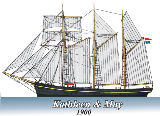 Drawing of the ship