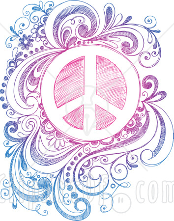 Colorful Retro Peace Sign Digital Art - Colorful Retro Peace Sign Fine Art