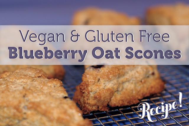 SHORTBREAD: Vegan & Gluten Free Blueberry Scones