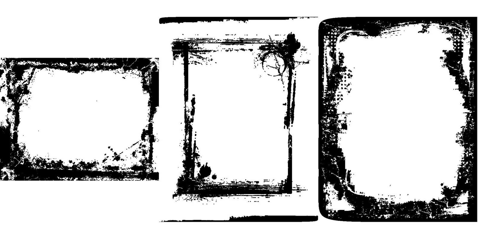 100 Marcos Grunge en Vector (100 Vector Grunge Frames) | Recursos 2D