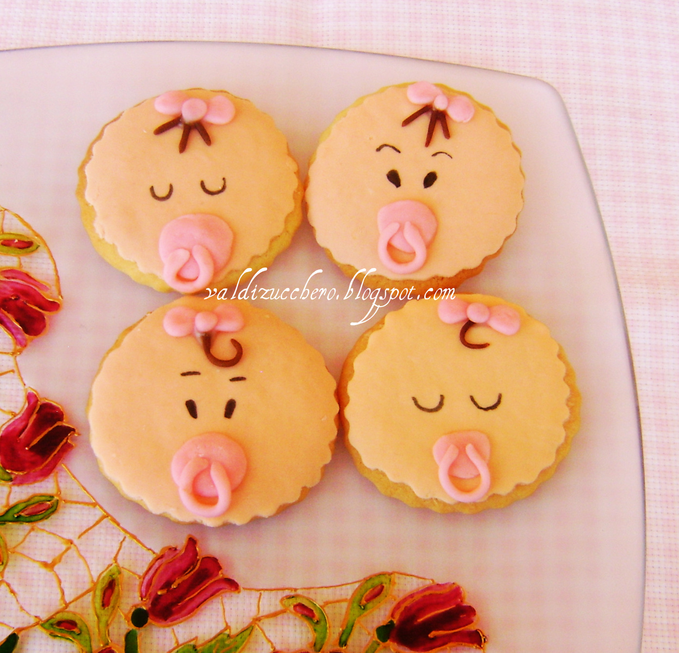Ben noto Val di zucchero: Biscotti decorati per la nascita di una bimba GO51