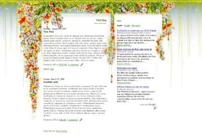 Colibri blogger template