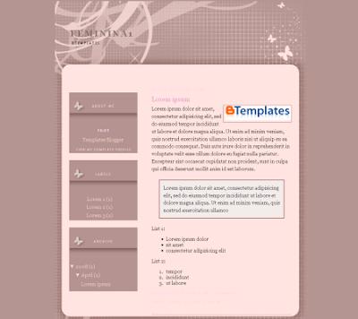 Femina 1 blogger template
